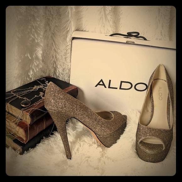 af5a22c7d1 Aldo Shoes - ALDO Champagne Lebovitz Platform Heels